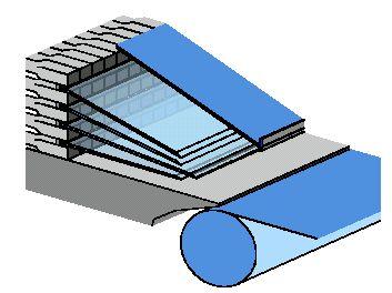 Hình 12 Các thanh Lamellas trong môi phun bột.