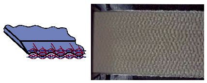 Hình 17 Các tác động lên cấu trúc môi phun khi không s� dụng lamella tối ưu ở thanh lamella dài.