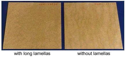 Hình 19 Sự cải thiện chất lượng tờ giấy nhờ vào lamellas